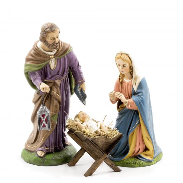 Holy Family - 3 figures, to 8.5 in. figures