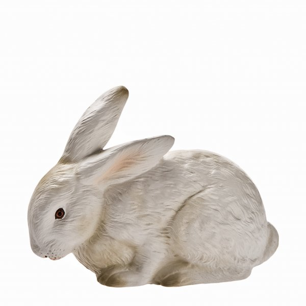 Kuschelhase, weiß, H=10cm