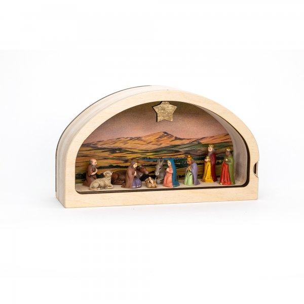 Miniature crib, nativity set, handmade in Germany