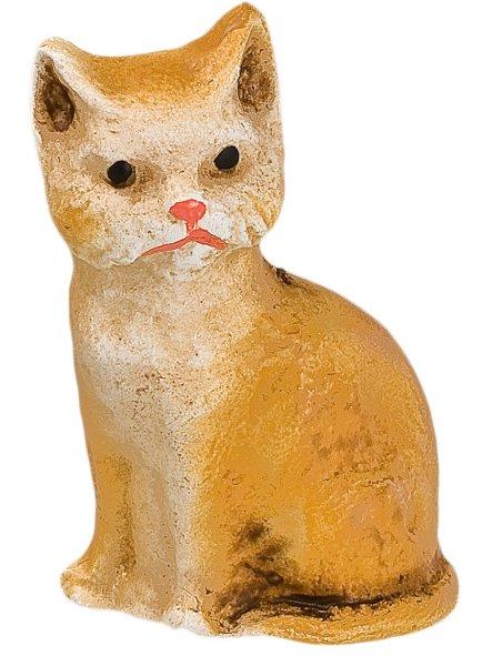 Katze sitzend, fuchs, zu 10 - 11cm Figuren