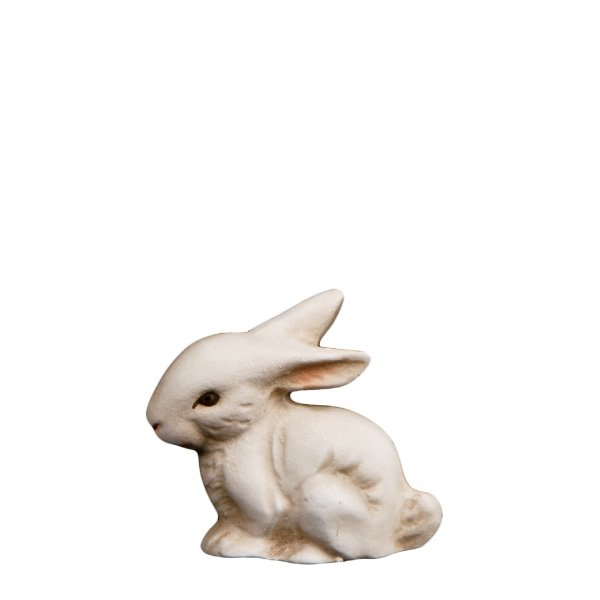 Sitting white bunny, Height = 6 cm