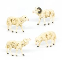 Schafgruppe, 4-teilig, zu 9cm Fig. (Kunststoff)