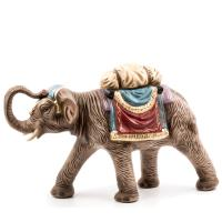 Elephant with luggage, to 8.5 in. figures