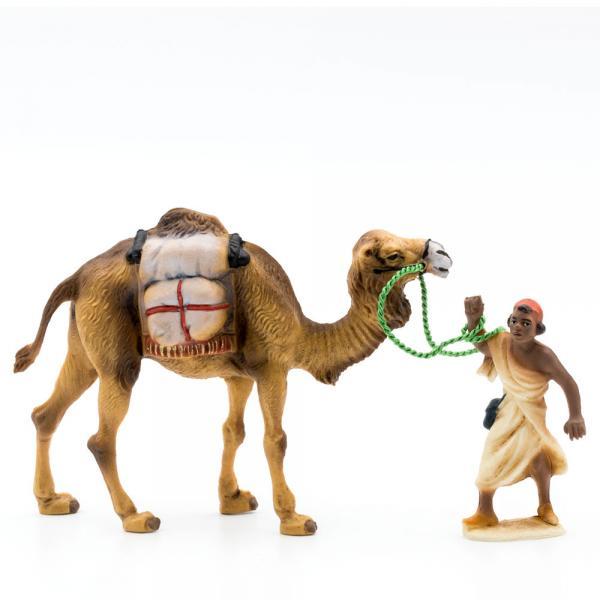 Kamel mit Gepäck + Treiber, zu 9cm Fig. (Kunststoff)