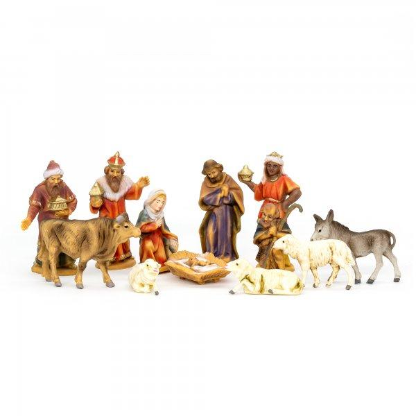 Krippenfiguren Set mit 12 Figuren, zu 7cm Fig. (Kunststoff)