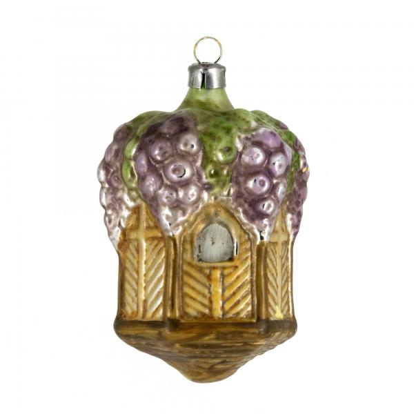 """Glass ornament """"Large pavilion with grapes"""""""
