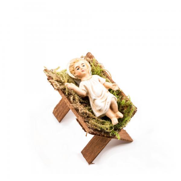 Holzkrippe mit Jesuskind, zu 12cm Figuren