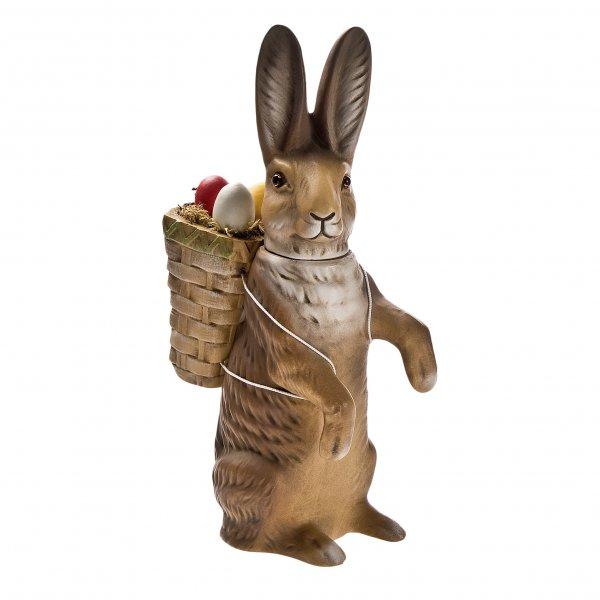 Osterhaseaufrecht, Figur zum Füllen, braun mit Korb