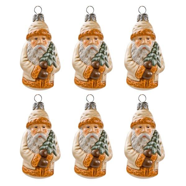 Baumbehang *Weihnachtsmann mit Tännchen* antikweiß