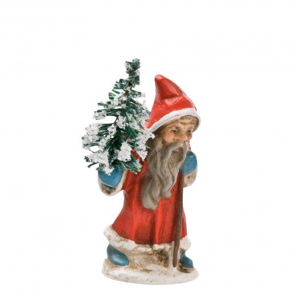 Miniatur - Weihnachtsmann gehend