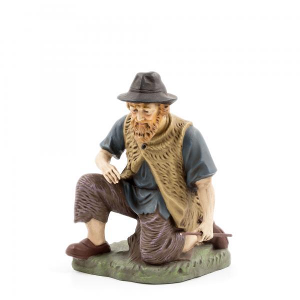 Hirte kniend mit Holz, zu 21cm Figuren
