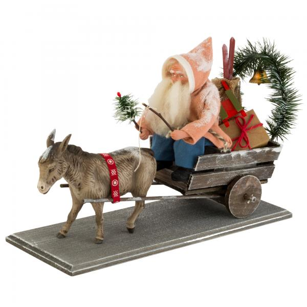 Christmas cart with donkey