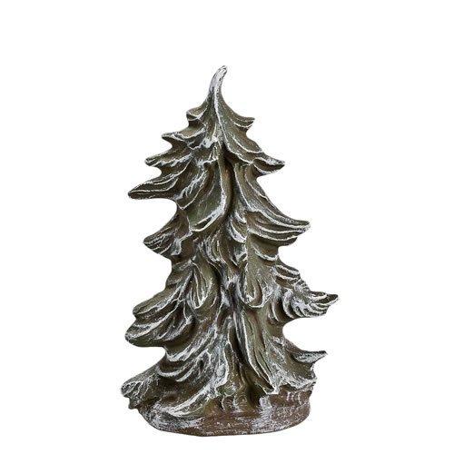 Breiter Tannenbusch verschneit, H=11,4cm, für 9 - 11cm Figuren - Original MAROLIN® - Zubehör für Modellbau oder Ihre Weihnachtskrippe - Made in Germany