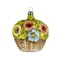 "Glass ornament ""Big Flower Basket"""