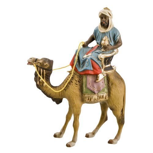 König schwarz (Caspar) zu Kamel, zu 12cm Figuren