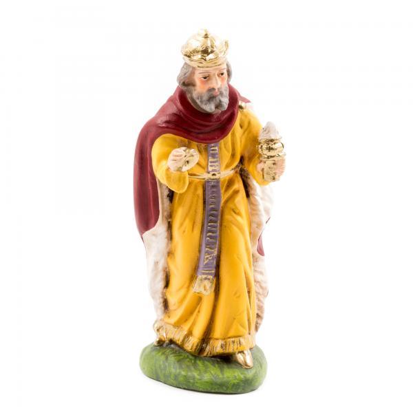 König weiß (Balthasar), zu 10cm Krippenfiguren - Original MAROLIN® - Krippenfigur für Ihre Weihnachtskrippe - Made in Germany