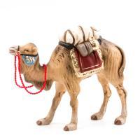 Kamel mit Gepäck, zu 9 - 10cm Krippenfiguren - Original MAROLIN® - Krippenfigur für Ihre Weihnachtskrippe - Made in Germany