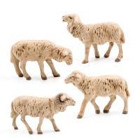 Schafgruppe, 4 Teile, zu 11 - 12cm Figuren