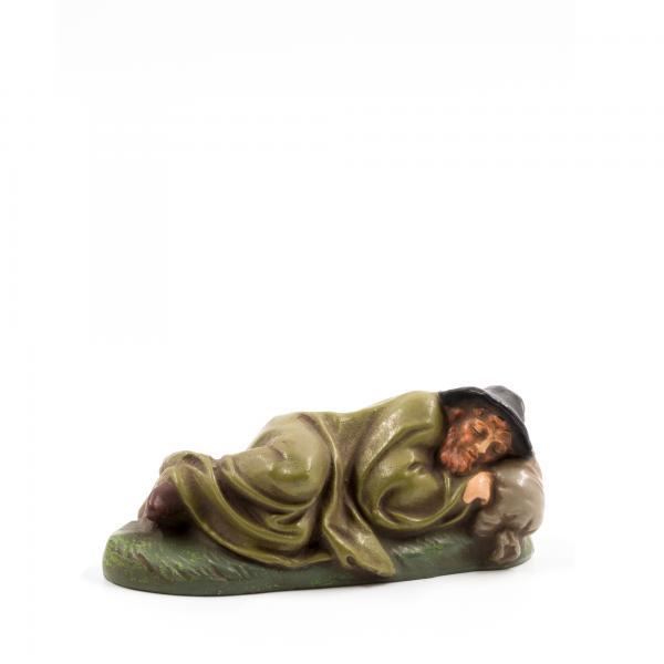 Hirte schlafend mit Decke, zu 11cm Krippenfiguren - Original MAROLIN® - Krippenfigur für Ihre Weihnachtskrippe - Made in Germany