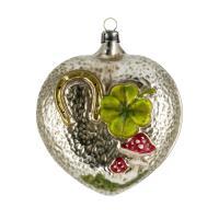 """Glass ornament """"Lucky heart"""""""
