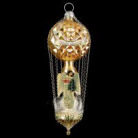 Waffle balloon with angel-oblates, gold
