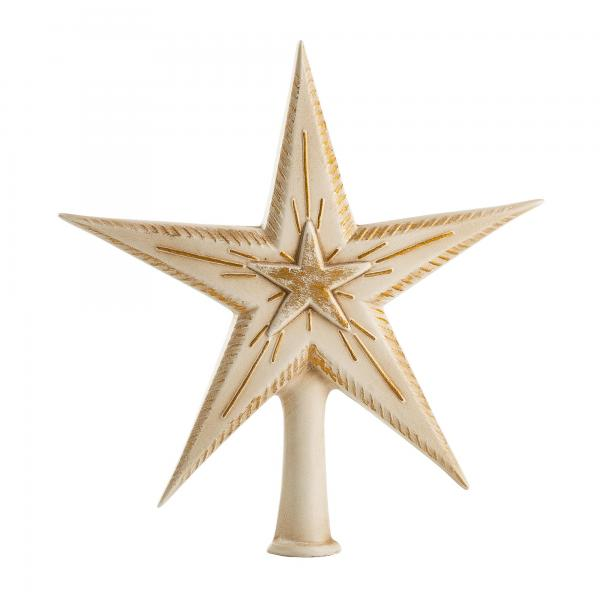 "Tree topper ""double star"", antique white"