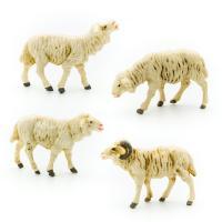 Schafgruppe, 4-teilig, zu 7cm Fig. (Kunststoff)