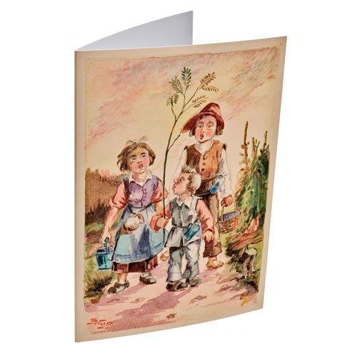 """Klappkarte """"Die Beerleutla kumma"""" - ein Artikel aus der Serie  MAROLIN® - Karten - Made in Germany."""
