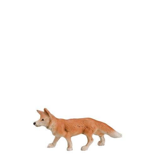 Fuchs gehend, zu 9 - 10cm Figuren - ein Artikel der Original MAROLIN® - Tiere als Dekoration für Ihre Weihnachtskrippe oder Weihnachtspyramide - Made in Germany