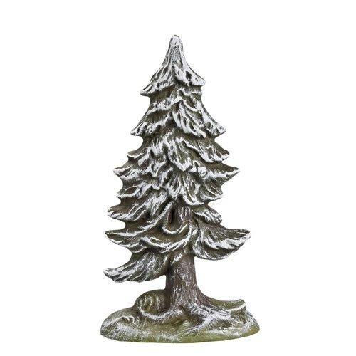 Kleine Tanne verschneit (Halbrelief), H=16cm - für 9 - 11cm Figuren - Original MAROLIN® - Zubehör für Modellbau oder Ihre Weihnachtskrippe - Made in Germany