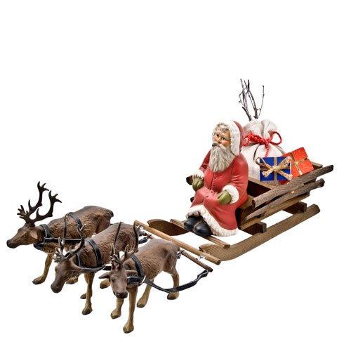 Weihnachtsmann auf Rentierschlitten