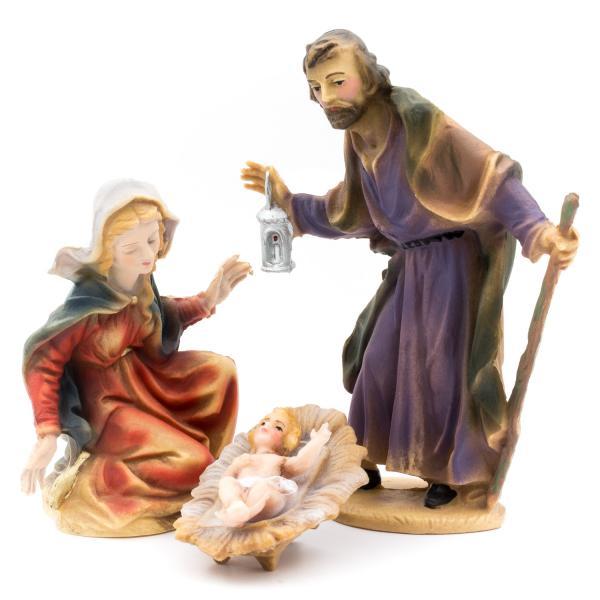 Heilige Familie, zu 12cm Krippenfiguren (Kunststoff)