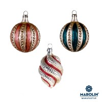 "Set of 3 glass ornaments ""Lauscha Traditional"""