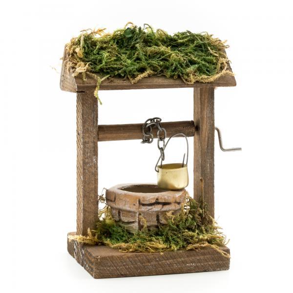 Ziehbrunnen für 9 - 10cm Figuren - Original MAROLIN® - Krippenzubehör für Ihre Weihnachtskrippe - Made in Germany