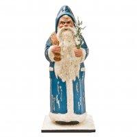 Weihnachtsmann  *Blaukutte* (befüllbar) in gebeizter Holzkiste
