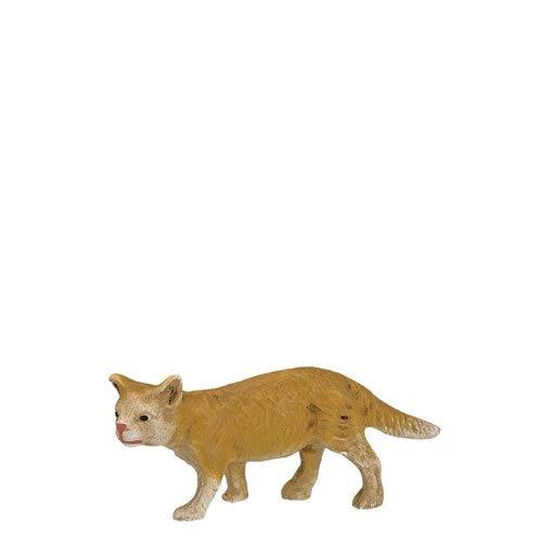 Katze schleichend, fuchs, zu 14cm Figuren - ein Artikel der Original MAROLIN® - Tiere als Dekoration für Ihre Weihnachtskrippe oder Weihnachtspyramide - Made in Germany