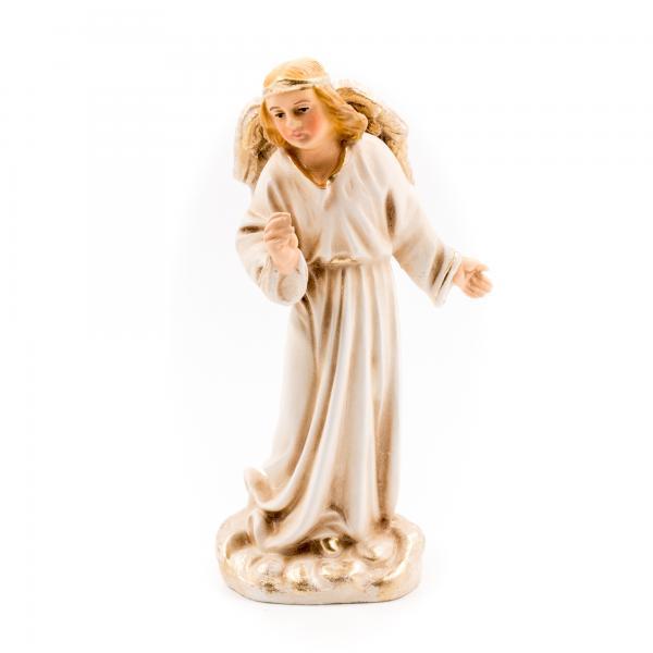 Verkündigungsengel in Antikweiß, zu 11cm Krippenfiguren - Original MAROLIN® - Engel für Ihre Weihnachtskrippe - Made in Germany