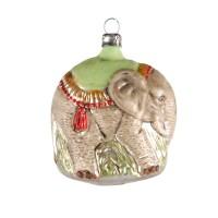 "Glass ornament ""Elephant"""