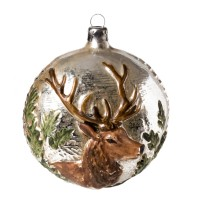 "Glass ornament ""Stag"""