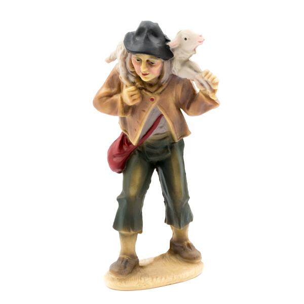 Shepherd with sheep on his shoulder (plastic material), to 4.75 in. Figures