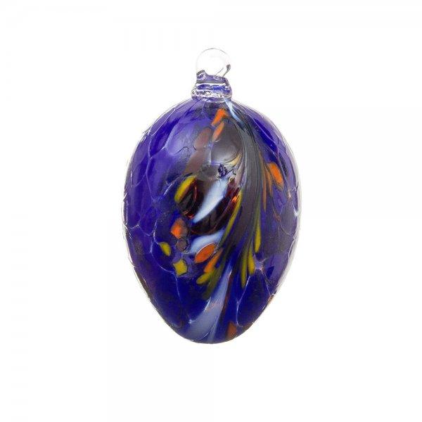 Handmade Easter egg (glass), lapis lazuli, 10cm