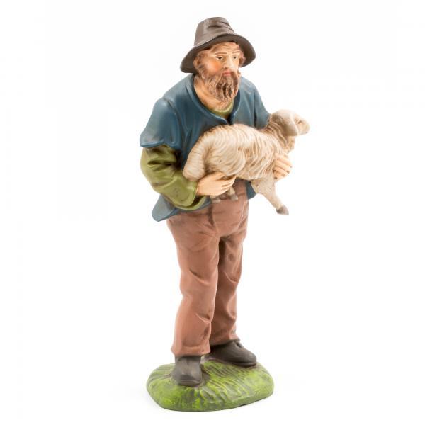 Hirte mit Schaf im Arm, zu 14cm Figuren