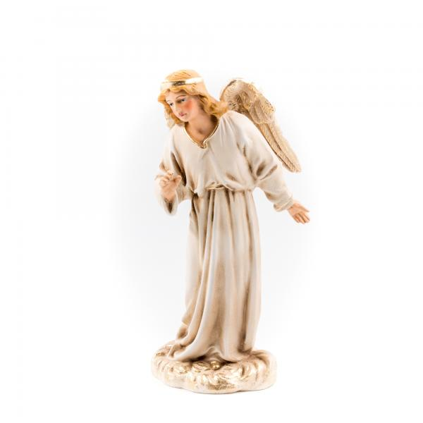 Proclaiming Angel, antique white, to 6.75 in. figures