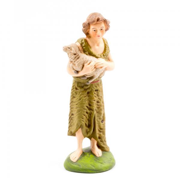 Hirte mit Fellkleid und Schaf, zu 12cm Figuren
