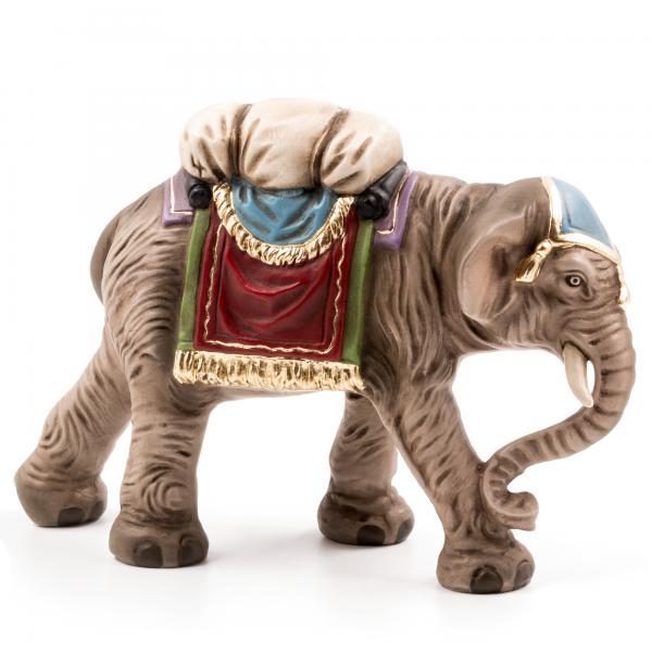 Elefant mit Gepäck, zu 10cm Krippenfiguren - Original MAROLIN® - Krippenfigur für Ihre Weihnachtskrippe - Made in Germany