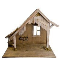 Wooden stable with window, to 5.5 up to 6.75 in. figures