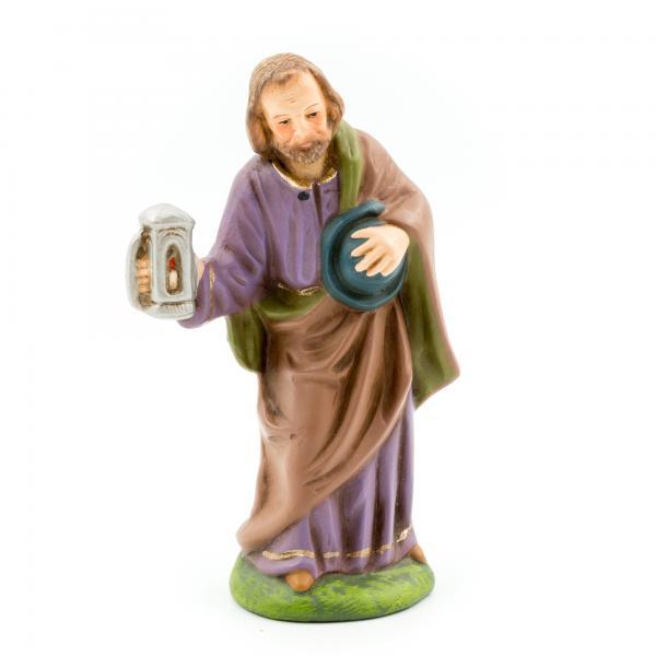 Josef stehend mit Hut und Laterne, zu 9cm Figuren