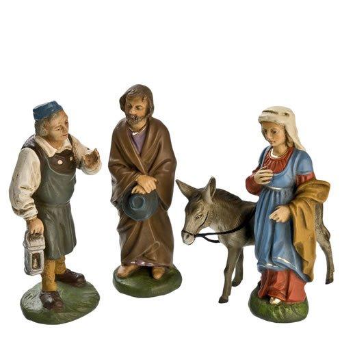 Herbergsuche, 4 Teile, zu 10cm Krippenfiguren - Original MAROLIN® - Krippenfiguren für Ihre Weihnachtskrippe - Made in Germany
