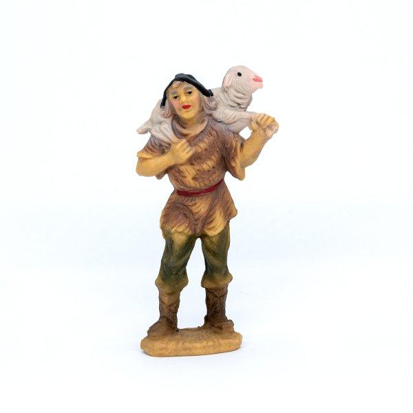Hirte mit Schaf auf Schulter, zu 9cm Fig. (Kunststoff)