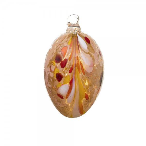 Handmade Easter egg (glass), Apricot, 10cm